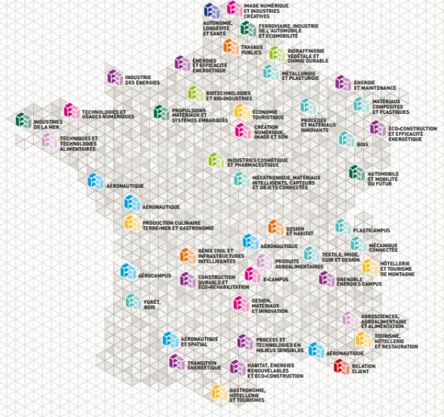 Les 49 campus des métiers et des qualifications