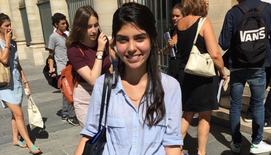 Le 14 septembre, Luciana entrera en première année de médecine à Paris-Descartes. //©Thibault Franceschet