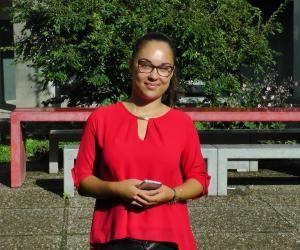 Antonina, étudiante en L1 de russe à l'université Grenoble-Alpes.