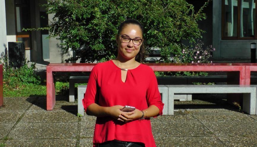 Antonina, étudiante en L1 de russe à l'université Grenoble-Alpes. //©Etienne Gless