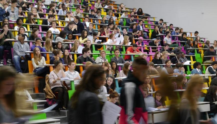 L'université Paris-Sorbonne (Paris 4) fait pour la première fois une percée dans le classement international de Shanghai. //©Camille Stromboni /Emmanuel Vaillant