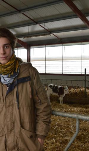 Visite d'une exploitation agricole pour Lohan et ses camarades de 1re STAV