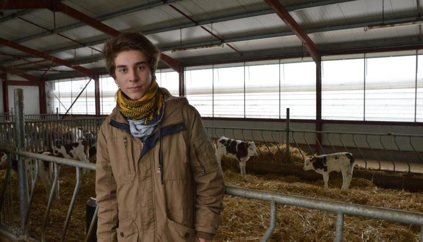 Visite d'une exploitation agricole pour Lohan et ses camarades de 1re STAV //©erwin canard