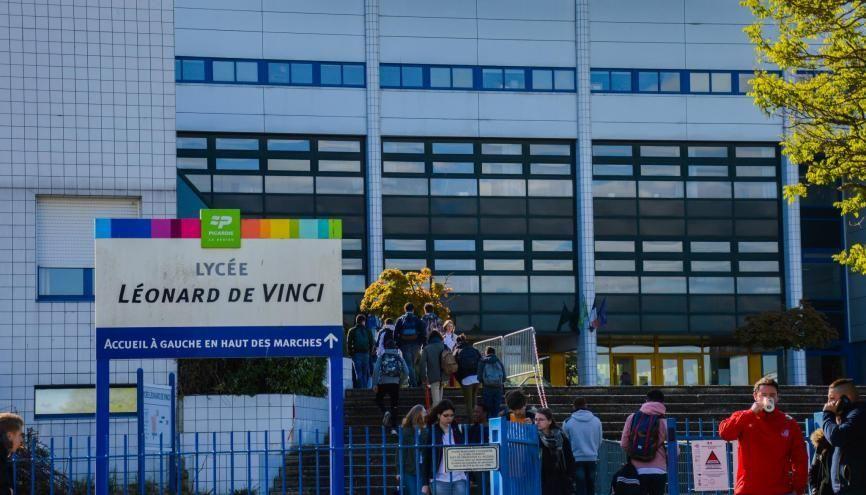Au lycée Léonard-de-Vinci, à Soissons, beaucoup d'élèves sont pro-Marine Le Pen. //©erwin canard