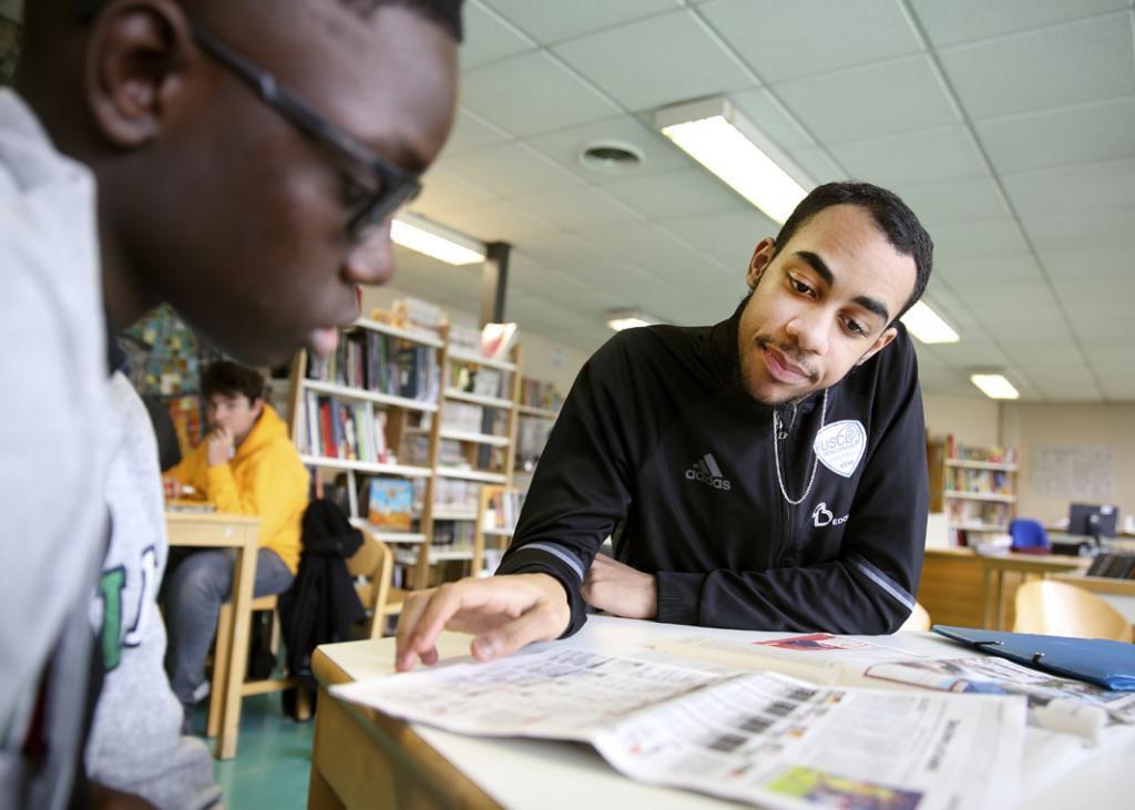 L'emploi du temps scolaire de Malcolm est aménagé pour lui permettre de s'entraîner tous les jours à partir de 16 h. //©Bertrand Desprez pour l'Etudiant