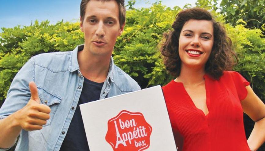 Zoé Capdevila et Bertrand Corp ont créé Bon Appétit Box, pour livrer de la gastronomie française à domicile, à San Francisco. //©Photo fournie par le témoin