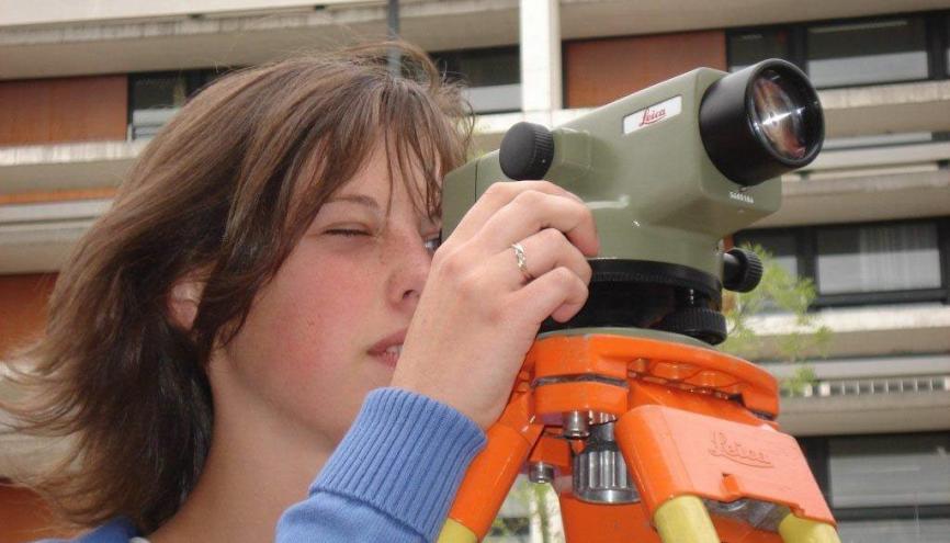 Une élève de licence pro génie civile à l'IUT de Cergy-Pontoise. //©DR