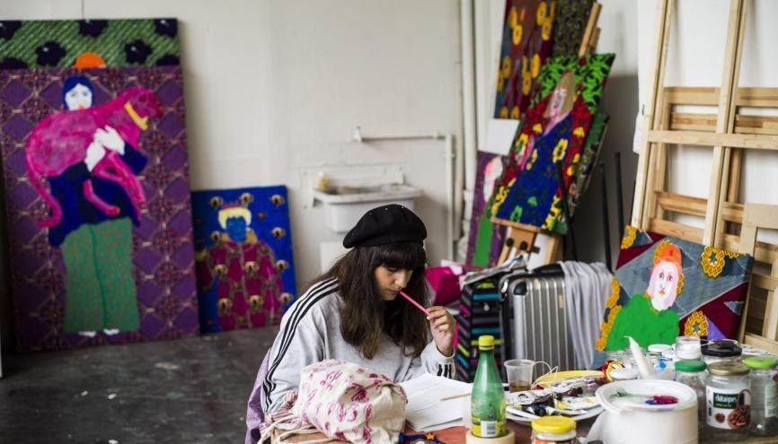 Déborah, étudiante à la HEAR, Haute école des arts du Rhin. //©Pascale BASTIEN/ Divergence pour l'Etudiant