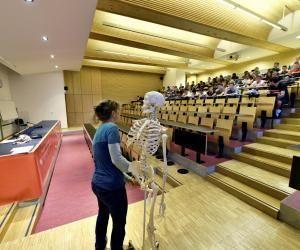 Un cours d'anatomie en première année de Staps à l'université de Limoges - Campus de Brive la Gaillarde.