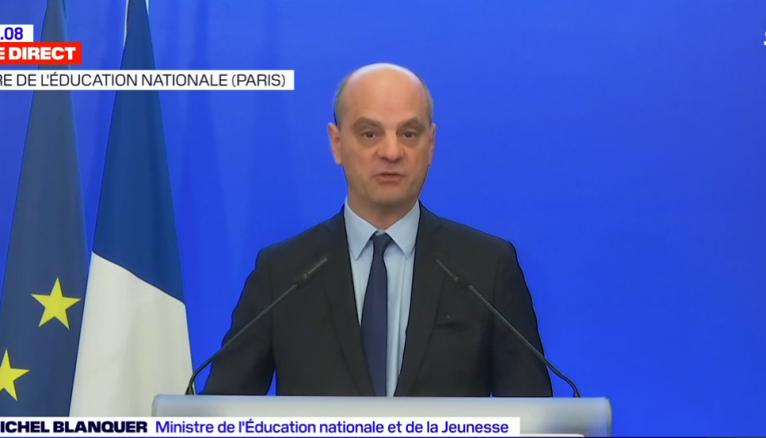 """Le ministre de l'Éducation nationale, Jean-Michel Blanquer, a décidé d'annuler les épreuves du bac afin de """"garantir l'égalité sociale et un bon niveau scolaire général""""."""