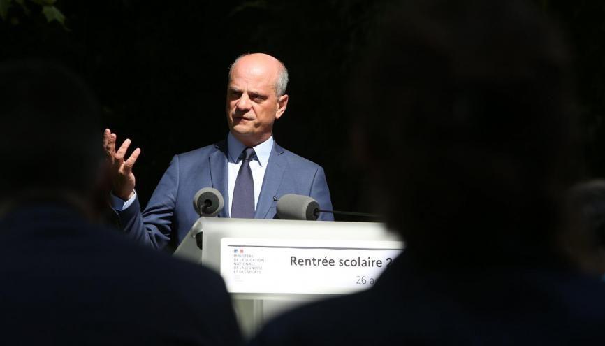 Jean-Michel Blanquer, le ministre de l'Éducation nationale. //©Nicolas Tavernier/REA