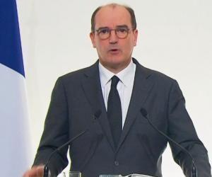 Le Premier ministre, Jean Castex, lors de la conférence de presse du 26 novembre 2020.