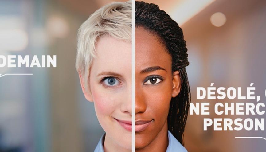 #LesCompétencesDabord : lutter contre les discriminations à l'embauche. Une affiche de la campagne de sensibilisation du gouvernement. //©Gouvernement.fr