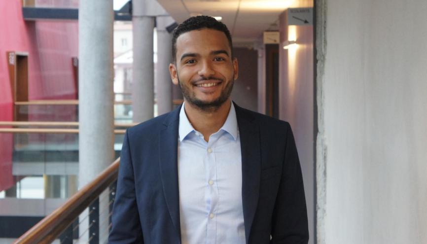 Greg, étudiant à Télécom Saint-Étienne, est président d'Inspire, la Junior-Entreprise de l'école. //©C. Authemayou