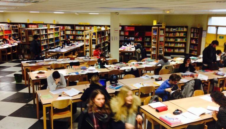 Les étudiants en plein dans la période des révisions à la bibliothèque de médecine de l'UPMC.