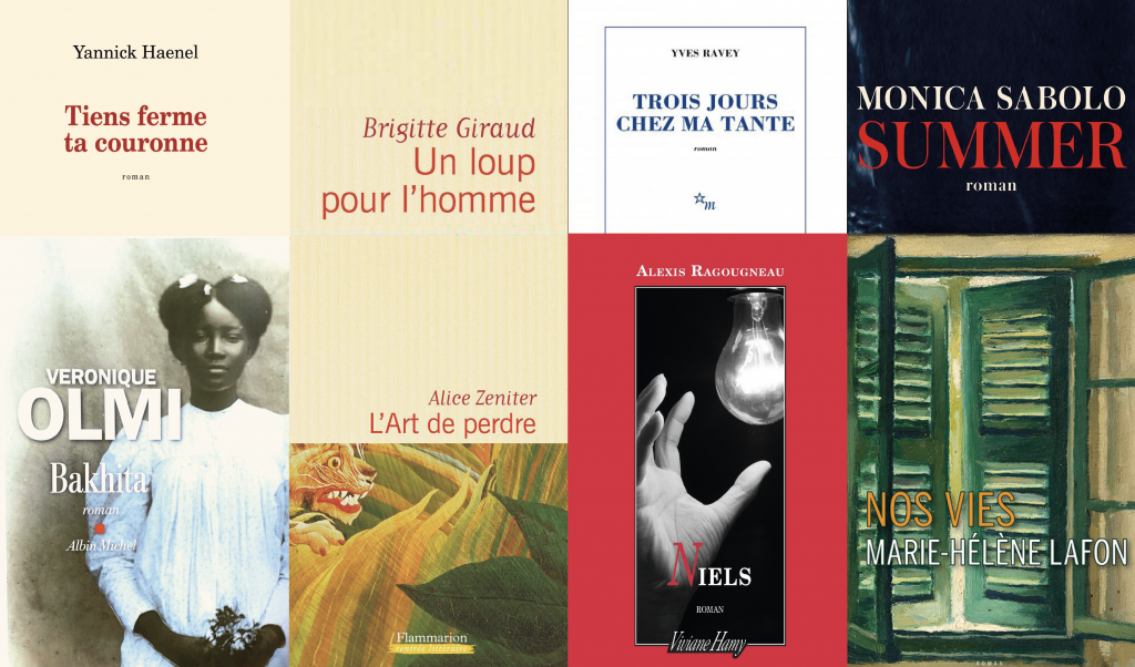 Les romans de nos 8 auteurs interviewés, sélectionnés pour le 30e prix Goncourt des lycéens. //©Montage l'Etudiant/Trendy