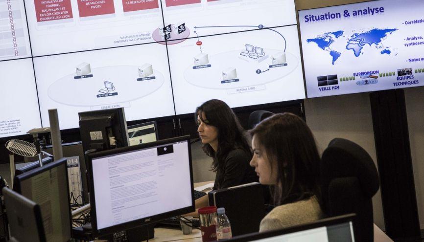 Lors d'une cyberattaque, l'ANSSI (Agence nationale de la sécurité des systèmes d'information) assure la sécurité informatique en faisant appel à des experts en gestion de crise cyber. //©Marlène Awaad/IP3