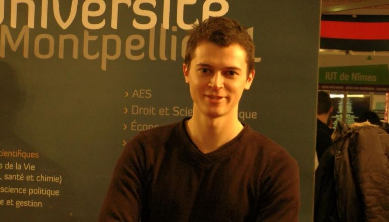 Virgile, 22 ans, en 2e année d'AES à Montpellier 1.