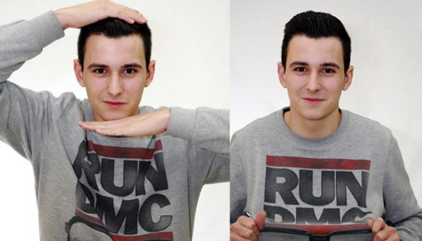 Kilian a le profil pour travailler dans l'événementiel. //©Gilles Tondini pour L'Étudiant
