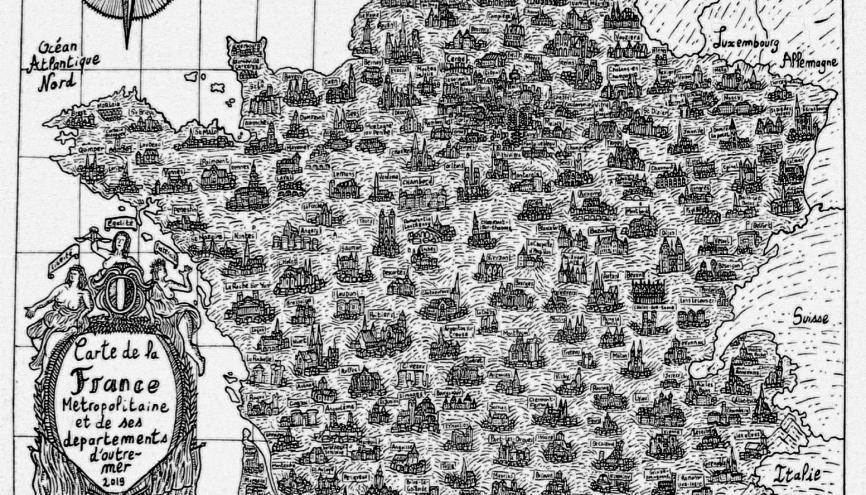 Pablo, étudiant de 19 ans, a réalisé une carte de l'Hexagone qui a crée un énorme buzz sur Twitter. //©Pablo Raison