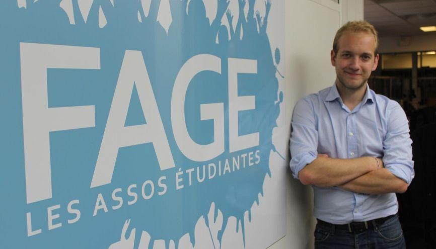 Jimmy Losfeld a été élu président de la FAGE le 24 septembre 2016. //©Delphine Dauvergne