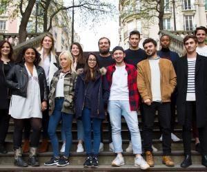 La promotion de l'IEJ qui vient rejoindre la rédaction de l'Etudiant pour le bac 2017.