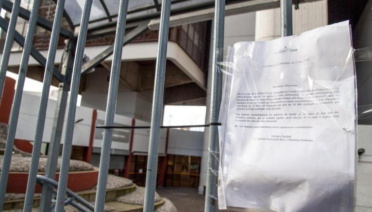 Les universités (ici le campus de Tolbiac à Paris) ont dû fermer à cause de l'épidémie de coronavirus.