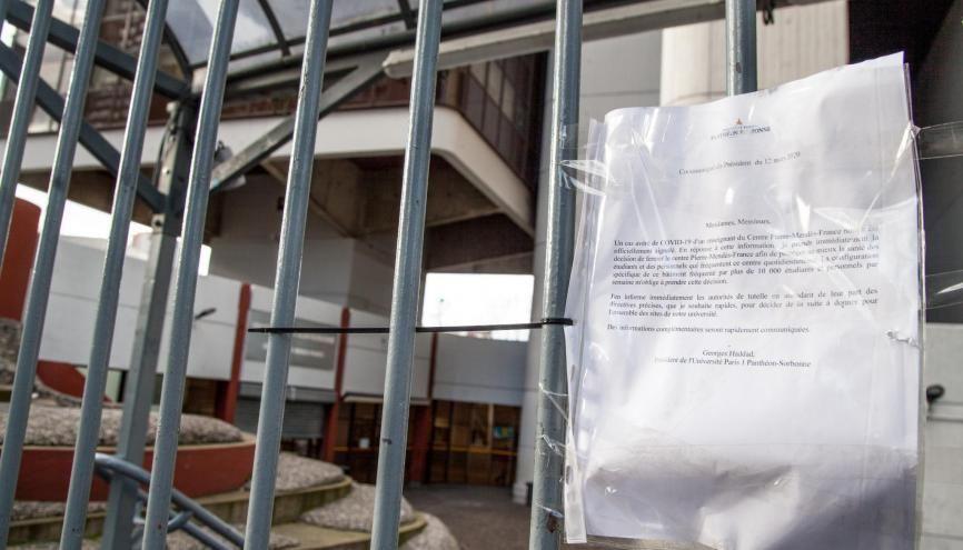 Les universités (ici le campus de Tolbiac à Paris) ont dû fermer à cause de l'épidémie de coronavirus. //©Alexandra BREZNAY/REA
