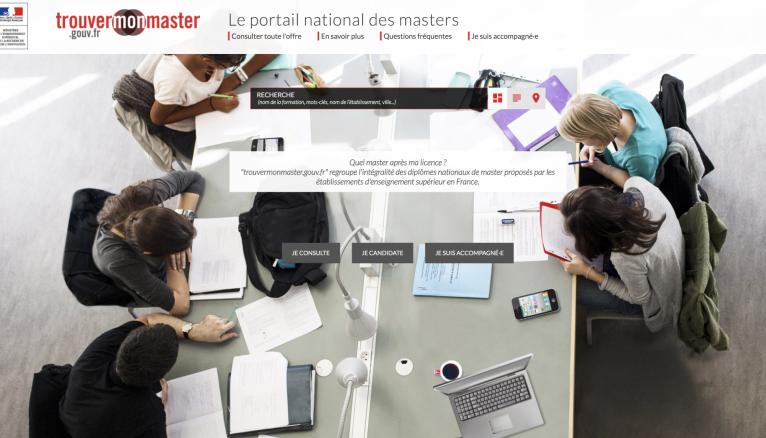 Le portail trouvermonmaster.gouv.fr recense près de 3.600 masters et 7.000 parcours.