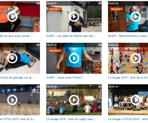 Le SUAPS de l'université de Toulon a déjà posté une dizaine de vidéos pour faire du sport.