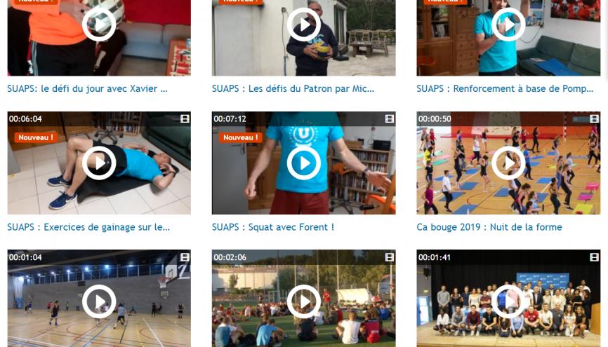 Le SUAPS de l'université de Toulon a déjà posté une dizaine de vidéos pour faire du sport. //©Capture d'ecran Suaps Toulon
