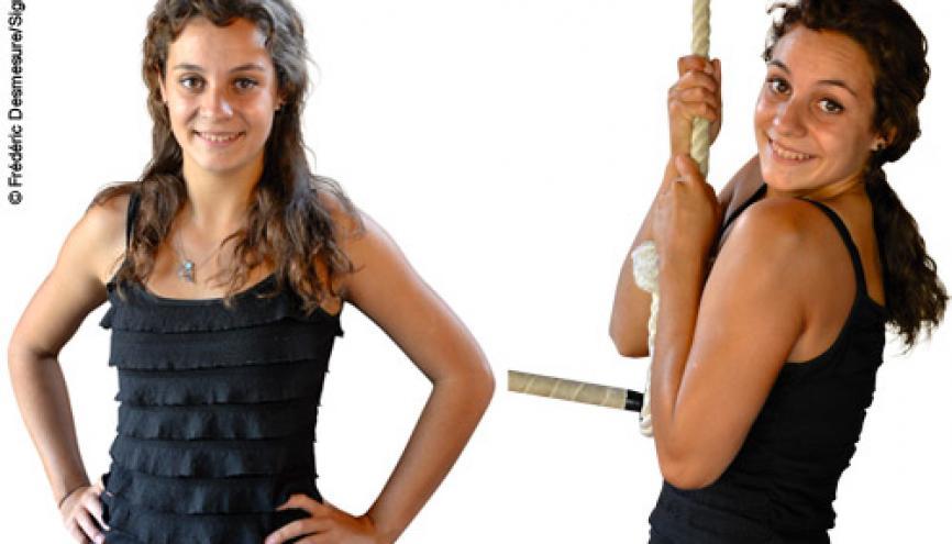 Marina, artiste et sportive. //©Frédéric Desmesure pour l'Etudiant