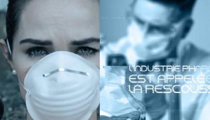 """L'affiche du jeu vidéo """"Pharma War"""" //©Les Entreprises du Médicament"""