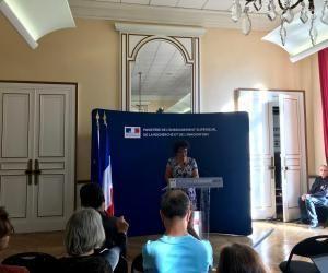 Frédérique Vidal fait le point sur Parcoursup lors de sa conférence de rentrée.