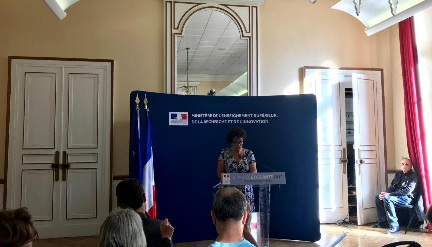Frédérique Vidal fait le point sur Parcoursup lors de sa conférence de rentrée. //©l'Etudiant