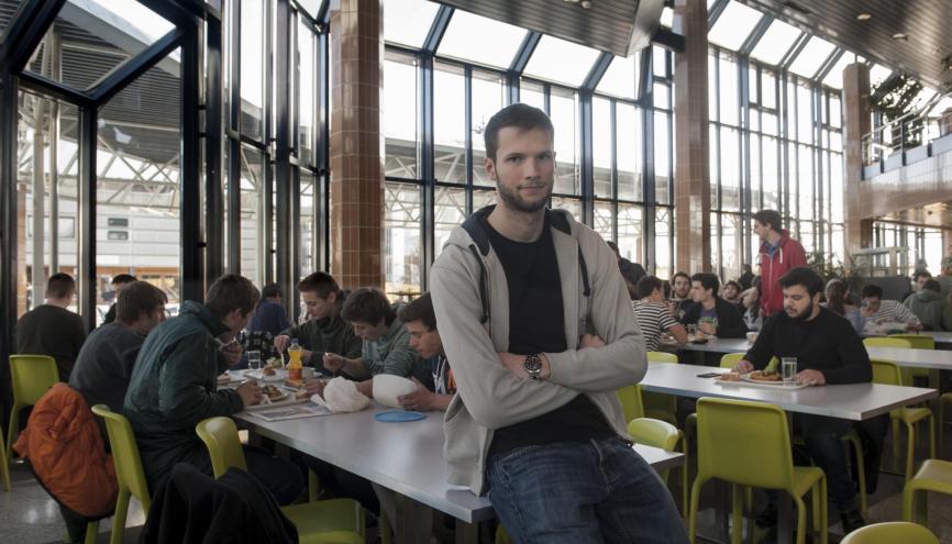 L'EPFL attire de nombreux étudiants étrangers. Dans le Bachelor de Gilles, par exemple, ils représentent 40 % des élèves. //©Pierre-Antoine Grisoni/Strates pour l'Etudiant