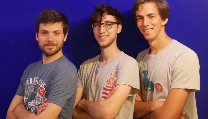 Jean-Régis, Victor et Bertrand, cofondateurs de Cariboo.co. //©Photo fournie par les témoins