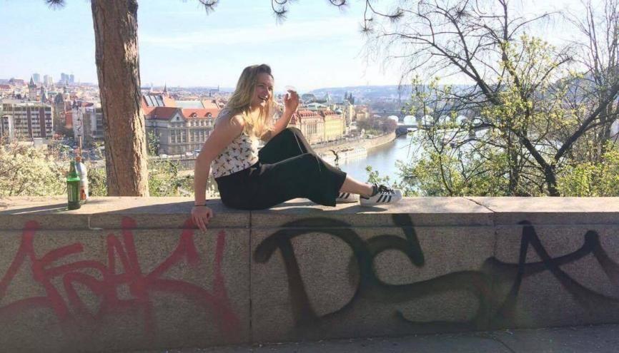 Entre tourisme (beaucoup) et cours (un peu), Mathilde profite de son année en Europe de l'Est. //©Photo fournie par le témoin
