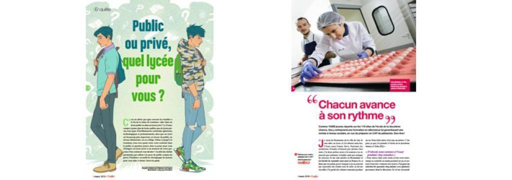 Plutôt public ou privé, votre futur lycée ? Au-delà des clichés, pour choisir, suivez le guide dans le magazine l'Etudiant. //©l'Etudiant