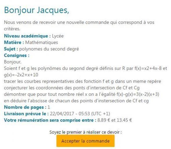 bonnenote   on a test u00e9 le  u0026quot uber des devoirs u0026quot