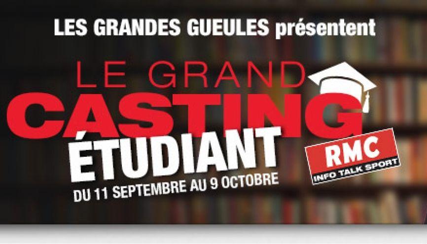 """Serez-vous la prochaine """"Grande Gueule étudiant(e) ? //©RMC"""