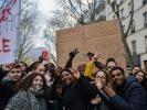 Des lycéens d'Ivry-sur-Seine manifestent contre la réforme de l'entrée à l'université //©erwin canard