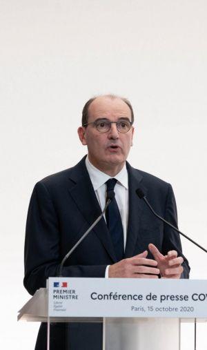 Le Premier ministre Jean Castex lors de sa conférence de presse, le 15 octobre 2020.