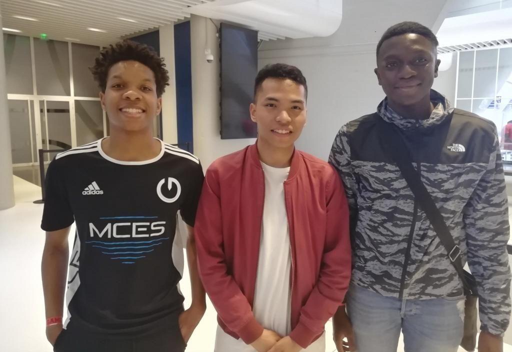 De gauche à droite : Fahemy, Toky et Babacar, les trois finalistes de la SMS E-Sport Cup. //©Clément Rocher