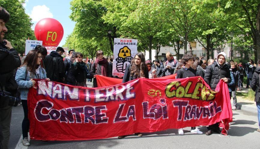 Après deux mois de mobilisation, les jeunes étaient encore présents dans la rue contre la loi Travail. //©Sarah Hamdi