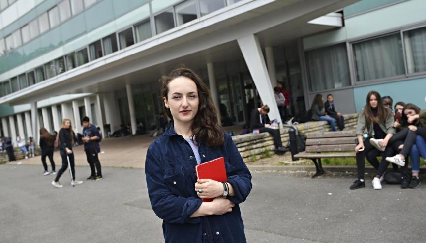 Lily est déléguée de classe depuis… la primaire. Elle aime avoir des responsabilités. //©Marie-Pierre Dieterlé pour l'Etudiant