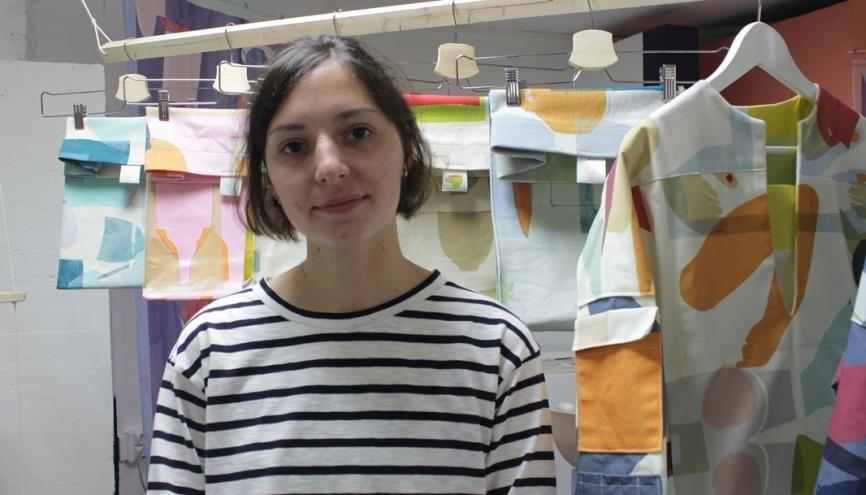 Audrey a remporté un concours de design pour la grande distribution //©Delphine Dauvergne
