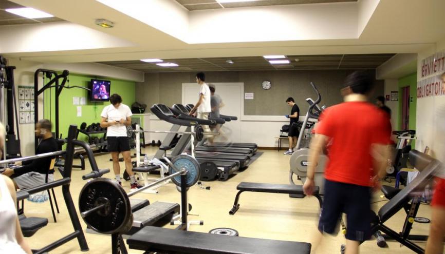 Les étudiants on accès à une salle de sport ultra sophistiquée. //©Marie-Anne Nourry