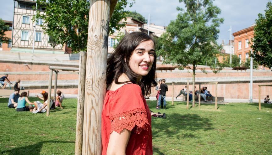Marine, 23 ans, en cinquième année à l'INSA Toulouse. //©Christian Bellavia / Divergence pour l'Étudiant