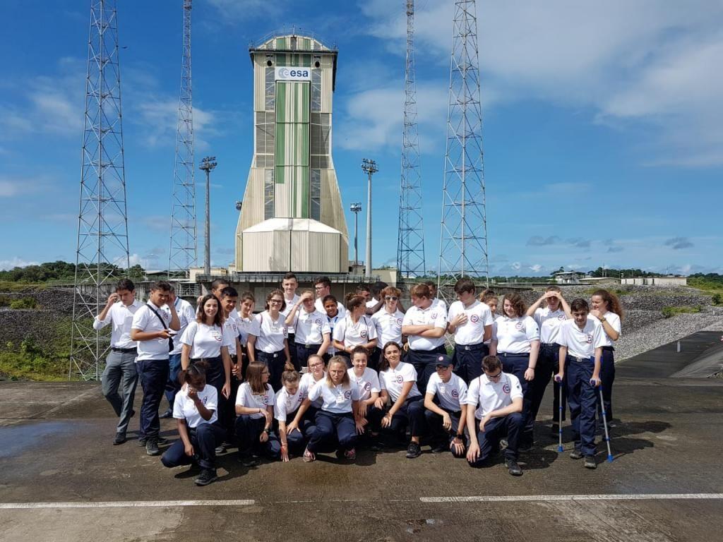 En Guyane, les volontaires ont assisté au décollage d'une fusée. //©Photo fournie par le témoin